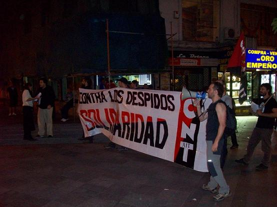 Cien montaditos. Conflicto laboral. Madrid.