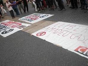 Barcelona. Foto. Concentración libertad Amadeu Casellas. CNT-AIT