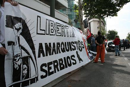 Embajada serbia. Ratibor Libertad. CNT - AIT. Madrid.