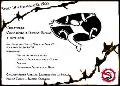 "[Madrid-VK] 19-F ""Observatorio de Derechos Humanos"" 19febpreSOSweb"