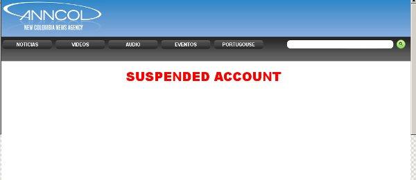 Suspenden la web de Anncol + la ignorancia de las autoridades colombianas.