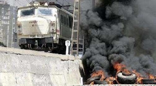 barricada tren