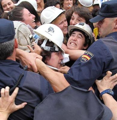mineras policia