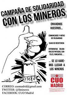 Campaña de solidaridad con los mineros