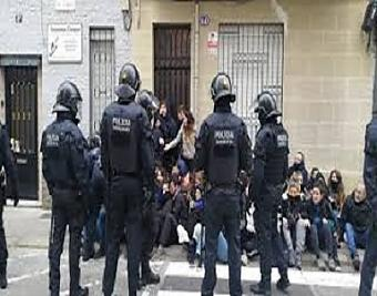 Desnonament amb violència policial